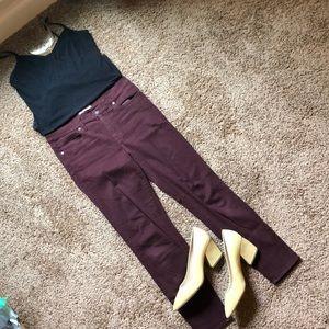 "Madewell 29"" waist 9"" high skinny pant"